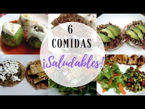 6 Comidas O Almuerzos Saludables Economicas Y Sencillas Erika Blop Youtube Comida Recetas De Comida Faciles Comida Innovadora