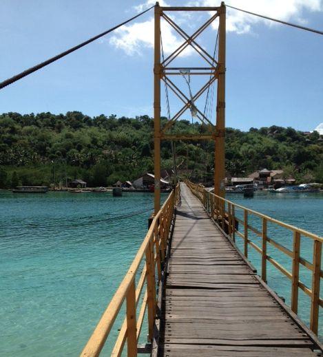 Bridge from Lembongan to Cangu