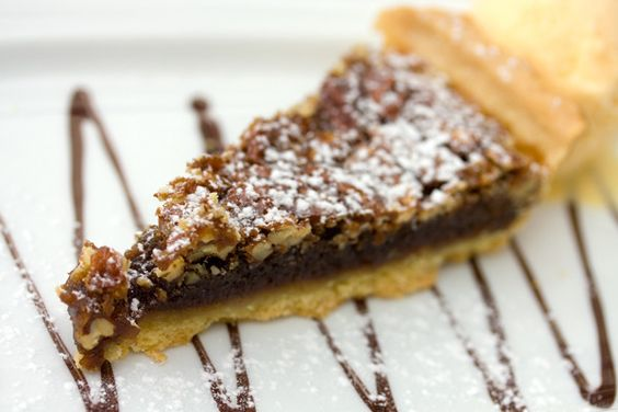 Recipe for traditional Kentucky Style Pie with walnuts and chocolate.