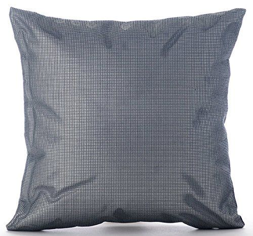 luxury grey decorative pillows cover, modern solid throw  https