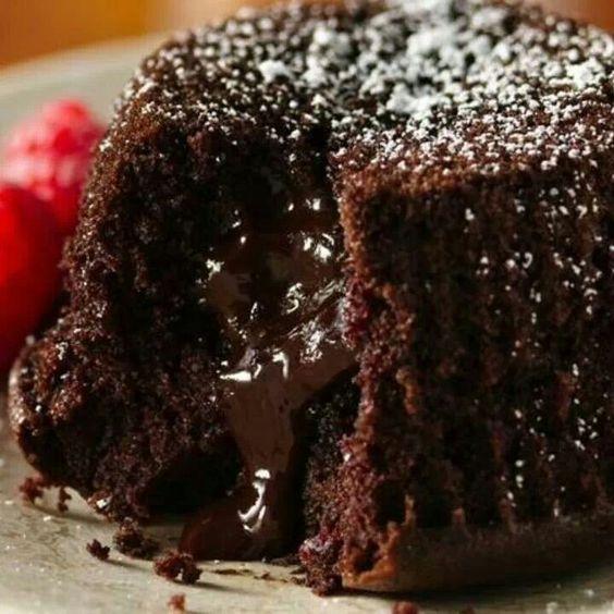 Gluten free lava cake
