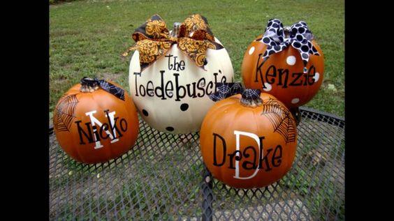 halloween decoración con calabazas//HALLOWEEN PUMPKINS