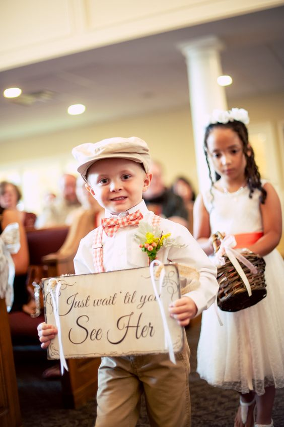 Cute idea for the simple church wedding.... my nephew is on Pinterest...