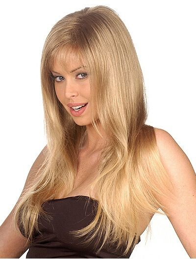 Soft Blonde Straight Long Synthetic Wigs CSAD00166
