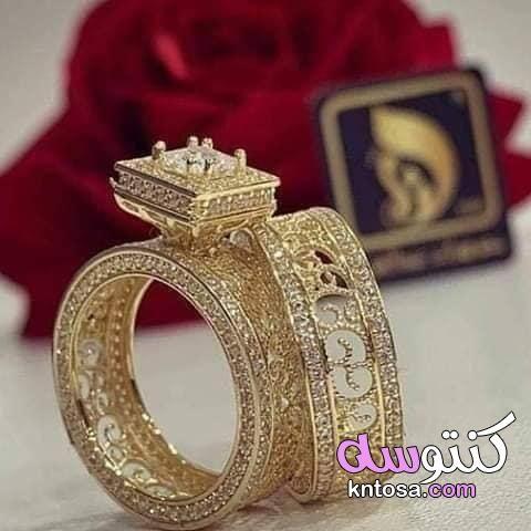 اجمل دبل خطوبة عام 2020 اجمل تشكيلة موديلات دبل خطوبة من ذهب لازوردى لاحلى عروسة اشكال دبل خطوبة Rose Gold Ring Gold Gold Rings