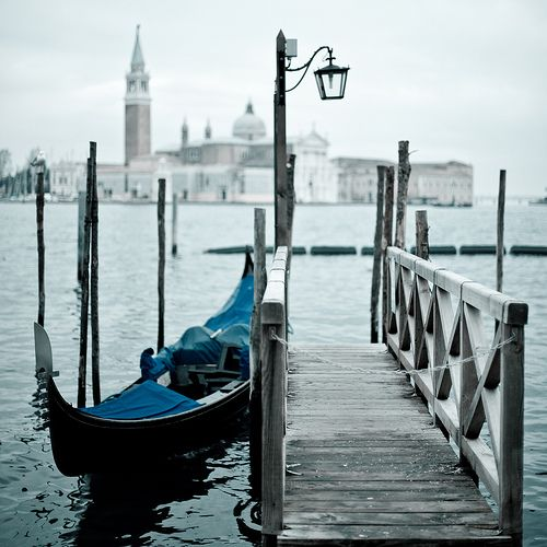 gondola with a hint of blue
