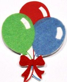 Birthday Balloons Bow Holder- ($7.00)