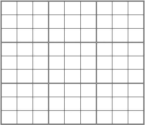 Printable Blank Sudoku Grid | The Works, Knowledge and Hobbies