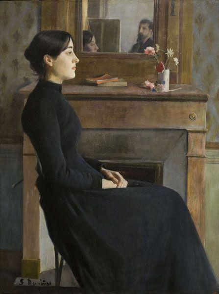 SANTIAGO RUSIÑOL, Female Figure, Paris, oil on canvas, 1894