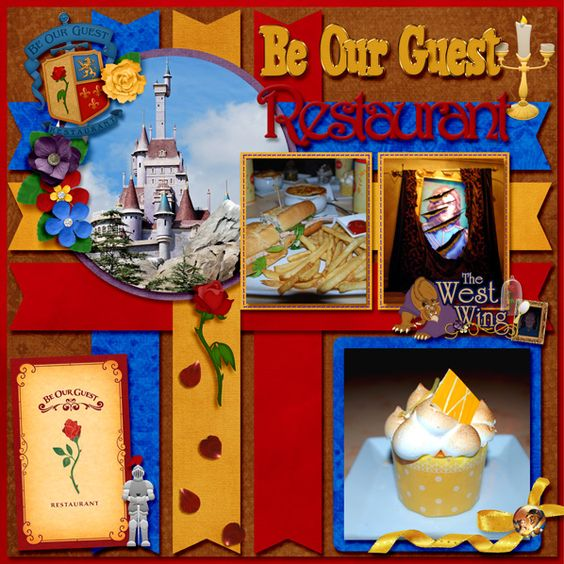 Be our guest restaurant page mousescrappers