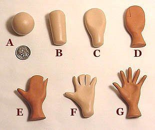 Photo tutorial on making hands for polymer clay dolls or art figures. Gallery.ru / Фото #6 - Технология - Inna-Mina