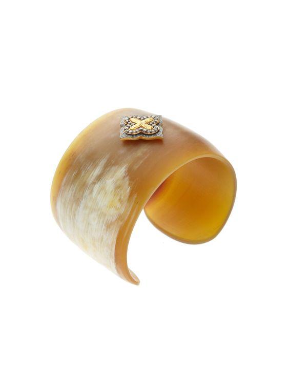 kevia clover cuff bracelet. buffalo horn