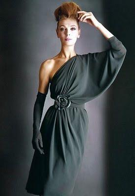 Pierre Cardin 1962 vintage fashion style designer evening gown ...