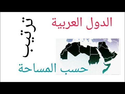 ترتيب الدول العربية حسب المساحة تنازليا En 2020