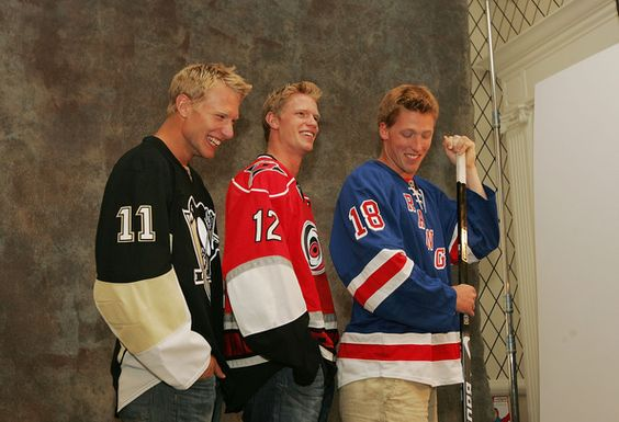 Jordan, Eric, & Marc Staal    All Staals all the time.