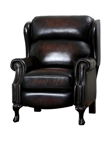 Abbyson Living Veda Hand Rubbed Top Grain Leather Pushback Recliner, Brown at MYHABIT  Daddy's chair!