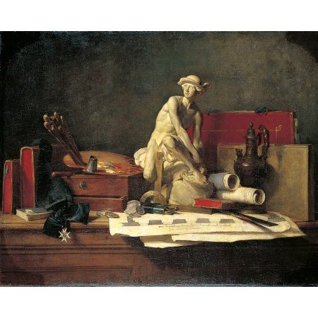 Still Life With Attributes Of The Art Canvas Art - (36 x 24)