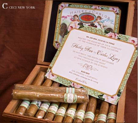 Wedding invitations invitations and cigar boxes on pinterest for Cigar box wedding invitations