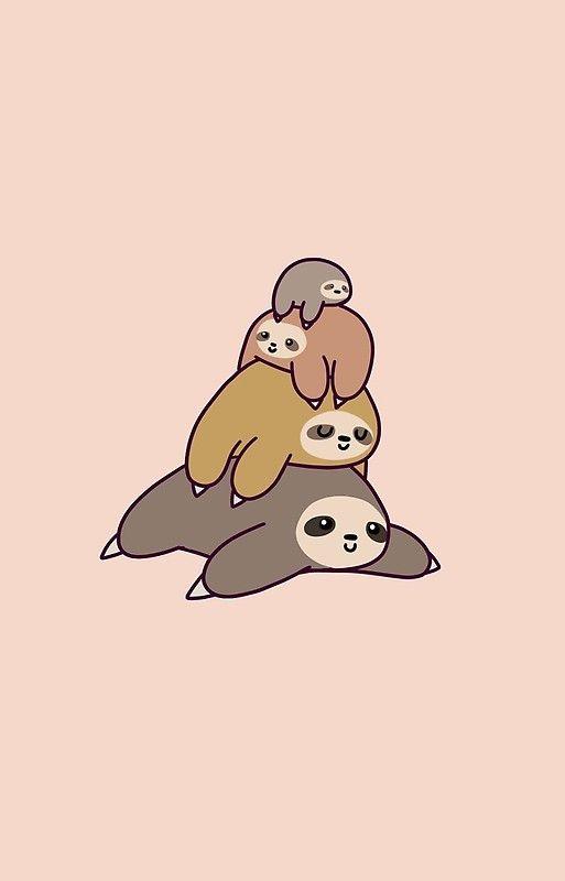 Sloth Stack Cute Cartoon Wallpapers Cartoon Wallpaper Funny Phone Wallpaper