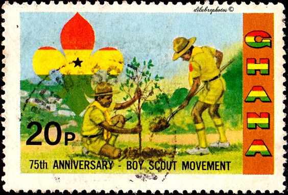 Ghana.  SCOUTING YEAR.  TREE PLANTING.  Scott  794 A169, Issued 1982 June 1,  Litho., Perf. 15. 20. /ldb.