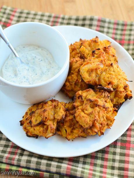 Slimming Eats Onion Bhaji's -gluten free, dairy free, Slimming World and Weight Watchers friendly