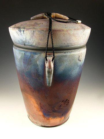 Raku Urns for Ashes | Raku Style Companion Cremation Urn for Ashes