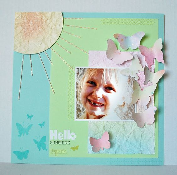 Scrapbook page- Papertrey Ink Butterfly