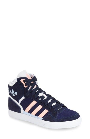 Femme Adidas Extaball High Top Gris/Vert
