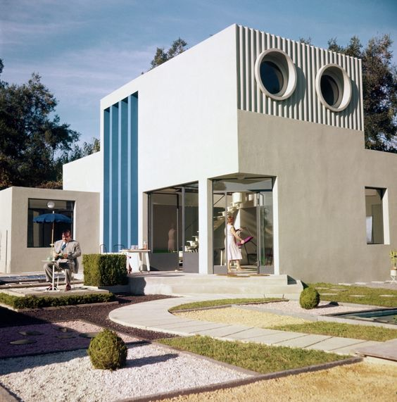 Coolest movie house la villa arpel mon oncle 1958 jacques t - Jacques tati mon oncle ...