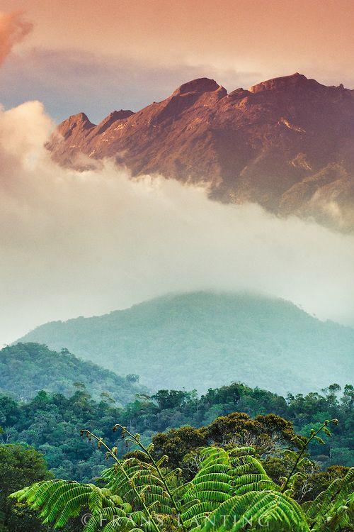 美しくそびえるキナバル山。標高 4,095.2mのマレーシア最高峰のキナバル山です。
