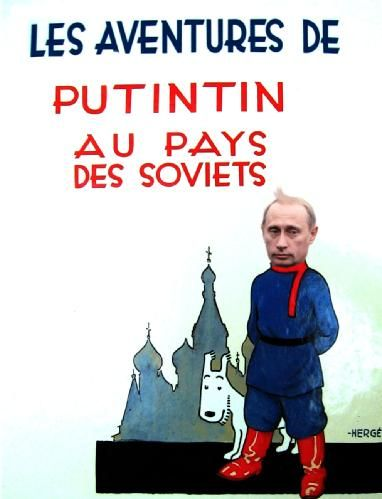 Les Aventures de Tintin - Album Imaginaire - Putintin au Pays des Soviets: