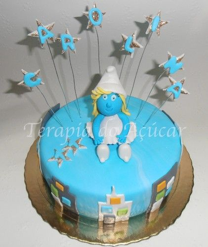 Smurfette in the City Cake