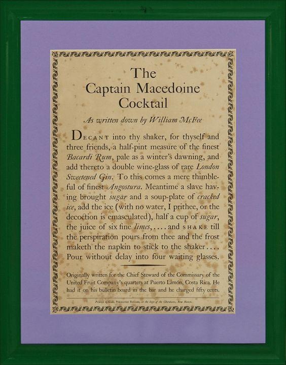 The Captain Macedoine Cocktail