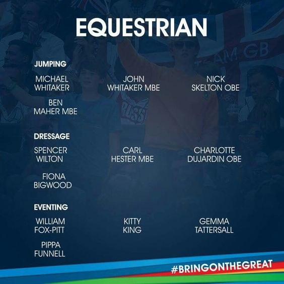 Equestrian Team GB Rio 2016