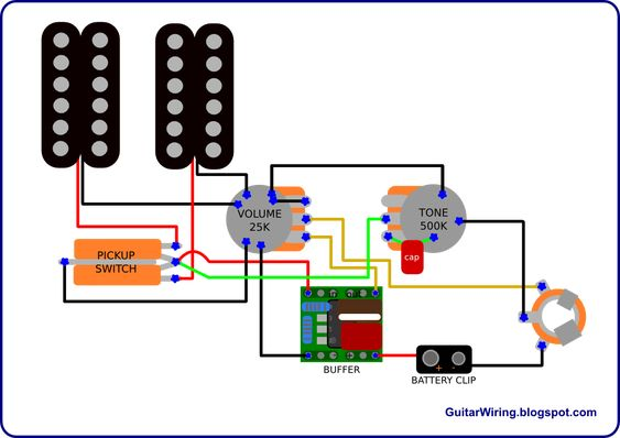 The Guitar Wiring Blog Diagrams And Tips Semi Active Guitar Wiring Simple And Effective Guitar Tech Guitar Diy Luthier Guitar