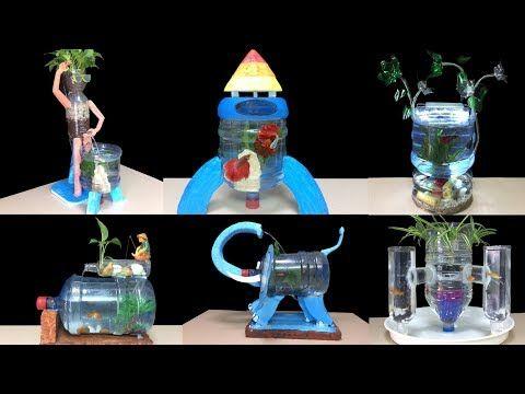 Top 8 Cómo Hacer Pecera En Casa Con Botella De Plástico Decoración Hogareña Youtube Plastic Bottle Art Bottle Art Diy Aquarium