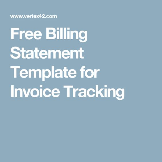 Free Billing Statement Template for Invoice Tracking INVOICE - billing statement