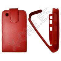 Funda Tipo Piel para Blackerry 8520 y 9300, Roja - Es perfecta para proteger de manera muy segura tu movil o smarphone. Fabricada en materiales de muy alta calidad por lo que ya no tendrás que preocuparte por si tu teléfono sufre algún golpe, caída o rasguño
