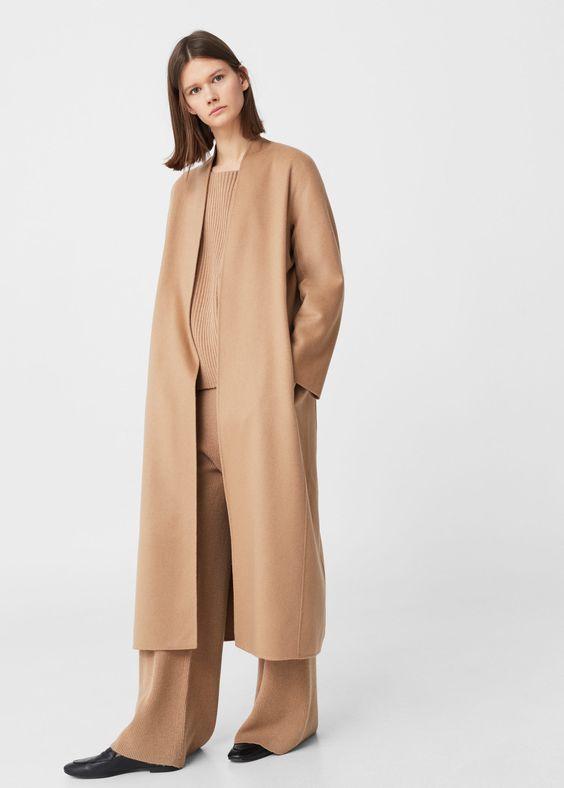 100% cashmere coat - Woman   MANGO Serbia   Odeca 2016   Pinterest