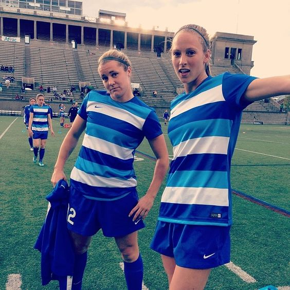 "Boston Breakers Instagram: ""Look who's excited for the new warm up shirts @katieshep12 @julieoking #nwsl #bostonbreakers #boston #superstoked """