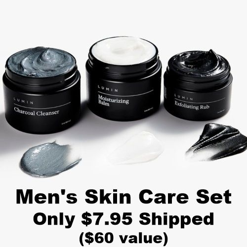 87 Off Lumin Skin Care Set For Men Only 7 95 Shipped In 2020 Skincare Set Skin Care Perfume And Cologne