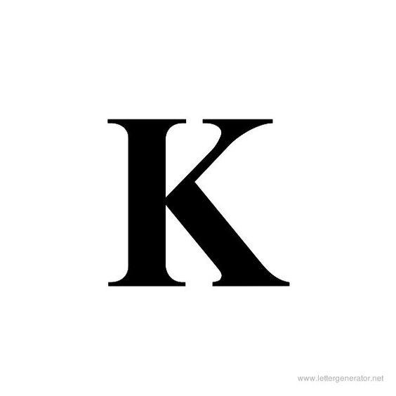 printable letters script letter k | Uppercase Letters Alphabet ...