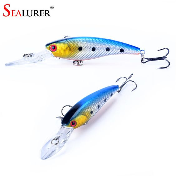 brand 8g 9cm lifelike hard fishing minnow lure artificial wobbler, Hard Baits