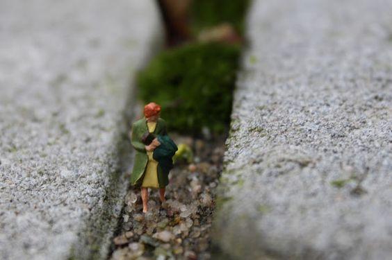 """herbst_maedchen: Slinkachu """"little people"""" -  inspiriert!"""