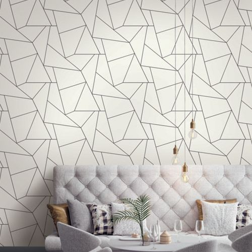Fractured Prism Peel And Stick Wallpaper By York Lelands Wallpaper Peel And Stick Wallpaper Wall Coverings Burke Decor