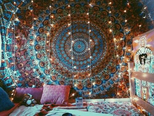 Image via we heart it bedroom bedrooms boho girl hippie hipster india indie style - Accessoire room ...