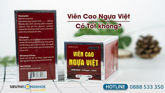 [GIẢI ĐÁP] - Viên Cao Ngựa Việt Có tốt không? Mua ở đâu?