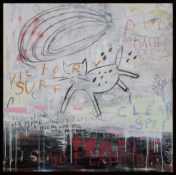 Troy Henriksen - Soft landing n°2 - Technique mixte sur toile de lin - 100 x 100 cm - 2014 - Galerie W - Galerie d'Art contemporain à Paris #galeriew #gallery #w #gallery w #troy-henriksen @galeriew