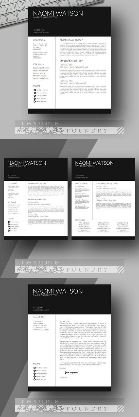 resume resume templates and modern resume template modern resume template look professional an easy to use resume template instant
