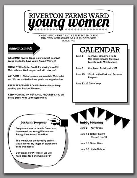 Mulheres jovens, Lua and Modelos de boletins informativos on Pinterest - church newsletter